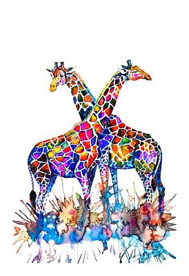 Mammals Royalty-Free and Rights-Managed Images - Giraffes by Zaira Dzhaubaeva