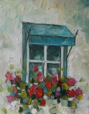 Painting - Giraniums by Mirjana Gotovac