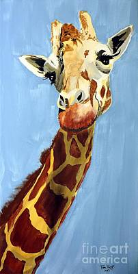 Painting - Girard Giraffe by Tom Riggs