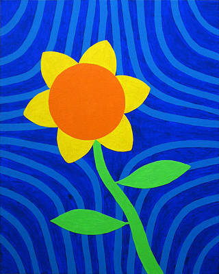 Multi Colored Painting - Girasol by Oliver Johnston