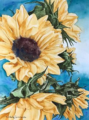 Girasole Painting - Girasole Sei by Kimberly Cammerata