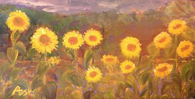 Girasol Painting - Girasoles by Asuncion Purnell