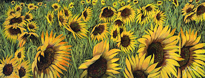 Painting Royalty Free Images - Girasoli Gialli Royalty-Free Image by Guido Borelli