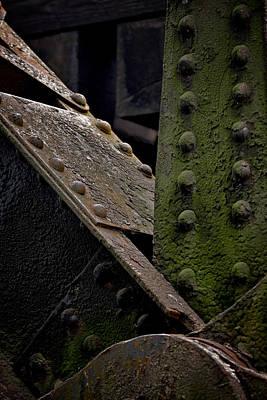 Rivets Photograph - Girder Lines by Patrick Biestman