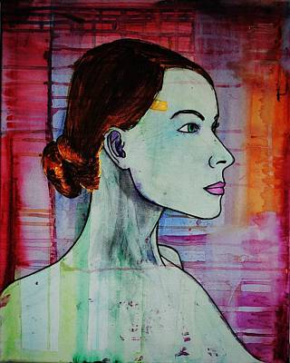 Art Print featuring the painting Girl 15 by Josean Rivera