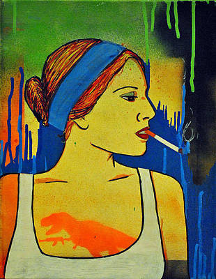 Girl 19 Print by Josean Rivera