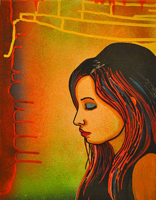 Painting - Girl 20 by Josean Rivera