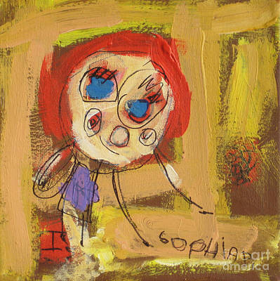 Painting - Girl. 2008. by Sophia Pontet