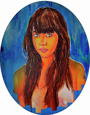Painting - Girl 23 by Josean Rivera