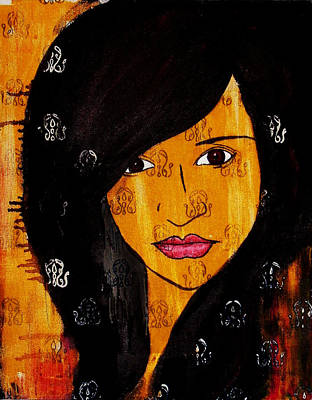 Art Print featuring the painting Girl 3 by Josean Rivera