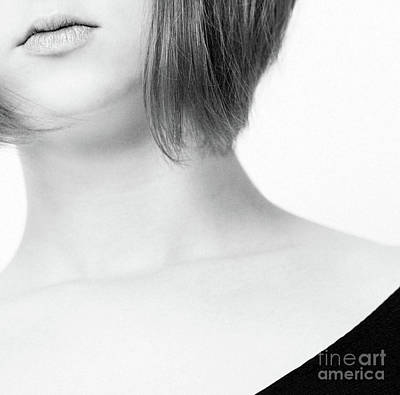 Photograph - Girl #5401 Bw by Andrey Godyaykin