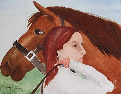 Painting - Girl And Her Horse by Penny Stroening