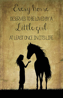 Photograph - Girl And Horse Silhouette by Teresa Wilson