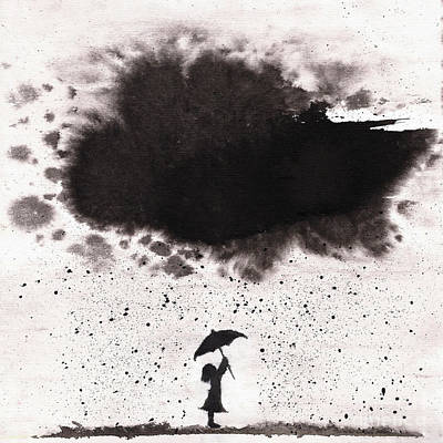 Girl And Ink Cloud Rain Original