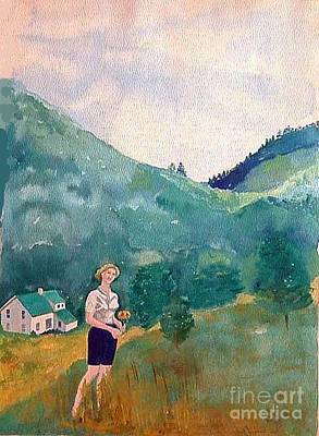 Girl At Murray Hollow Art Print by Fred Jinkins
