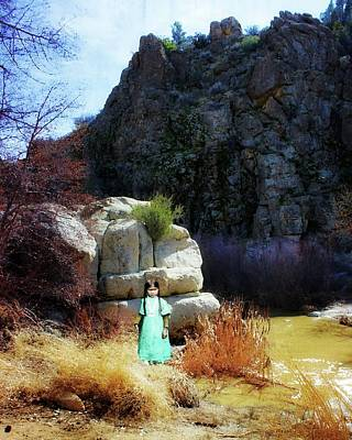 Photograph - Girl At Piru Creek by Timothy Bulone