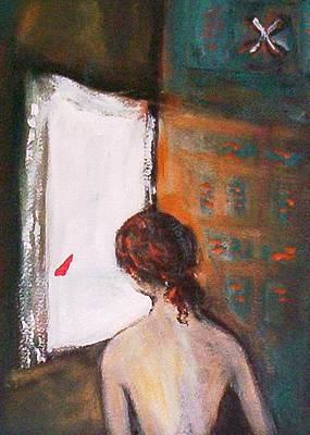 Painting - Girl At The Window by Winsome Gunning