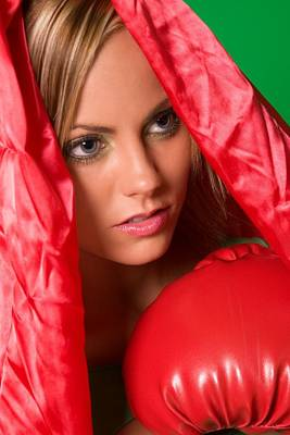 Photograph - Girl Boxer In Red by Bob Pardue