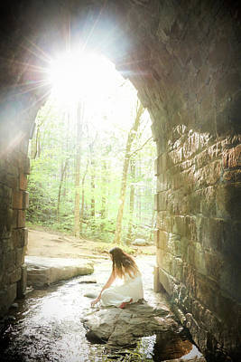 Photograph - Girl By The Stream In The Castle by Kelly Hazel