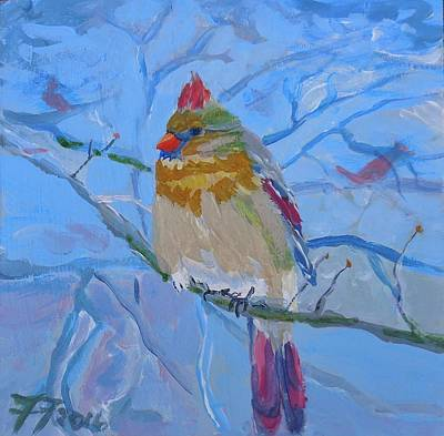 Painting - Girl Cardinal by Francine Frank