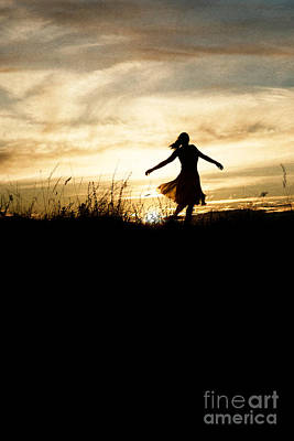 Photograph - Girl Dancing In Sunset by Clayton Bastiani