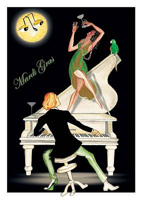 Girl Dancing On Piano Art Print