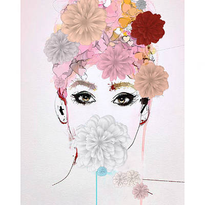 Painting - Girl Flower Power by Gallery Messina