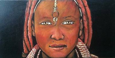 Painting - Girl From Africa by Jenny Pickens