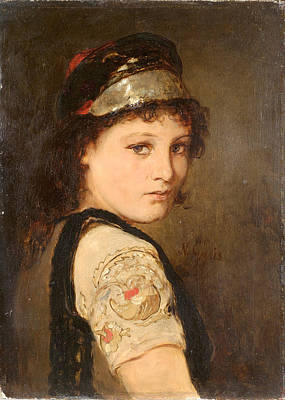 Painting - Girl From Megara  by Nikolaos Gyzis