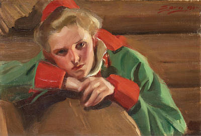Anders Zorn Painting - Girl From Mora by Anders Zorn