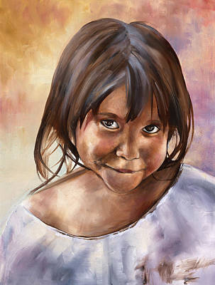 Nicaragua Painting - Girl From Nicaragua by Erika Kampe
