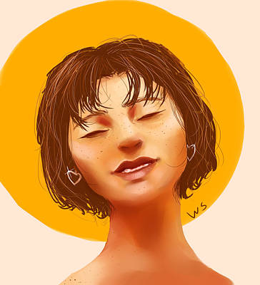Digital Art - Girl From The Sun by Willow Schafer