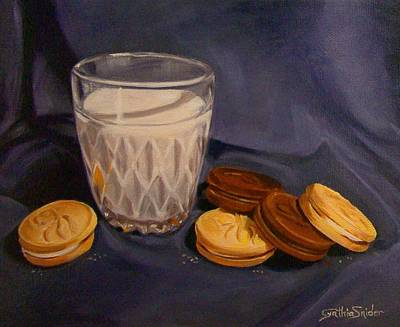 Girl Guides And Milk Art Print by Cynthia Snider
