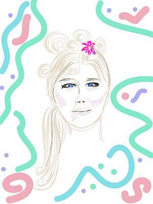 Digital Art - Girl Has Hair by Good Taste Art
