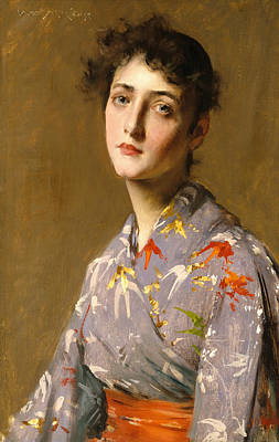 Painting - Girl In A Japanese Costume by William Merritt Chase