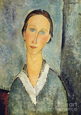 Painting - Girl In A Sailor's Blouse, 1918  by Amedeo Modigliani