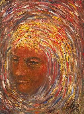 Painting - Girl In A Swirl by Herman Sillas