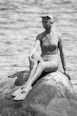 Photograph - Girl In A Wetsuit by Ross G Strachan