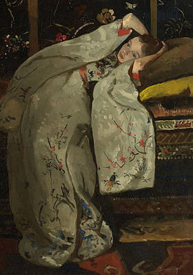 Exoticism Painting - Girl In A White Kimono by Georg-Hendrik Breitner