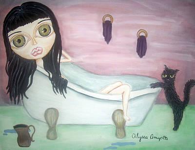 Girl In Bath Art Print