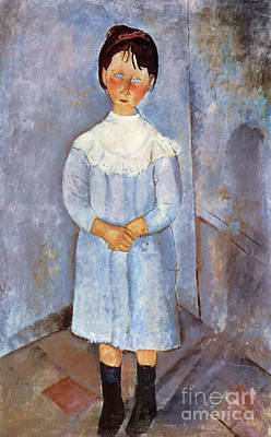 Girl In Blue, 1918 Art Print