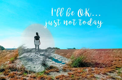 Positive Attitude Photograph - Girl In Field I'll Be Ok by Elaine Plesser