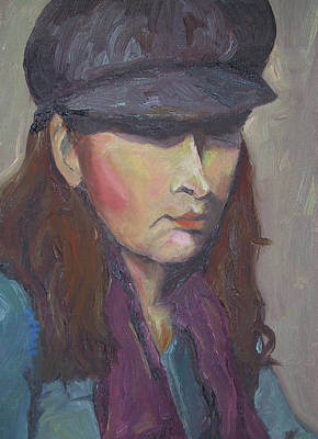Girl In Hat Original
