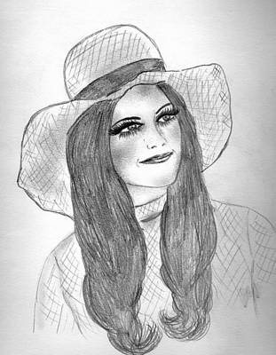 Drawing - Girl In Hat by Sonya Chalmers