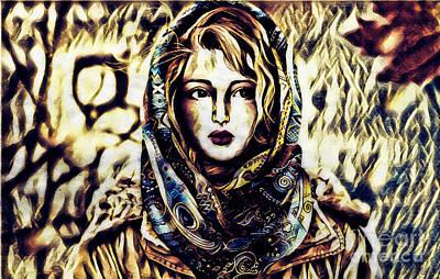 Digital Art - Girl In Hijab by Lita Kelley