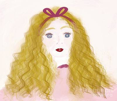Drawing - Girl In Pink by Susan Garren