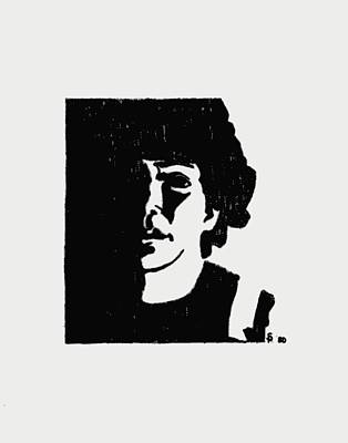 Girl In Shadow Art Print by Sheri Buchheit