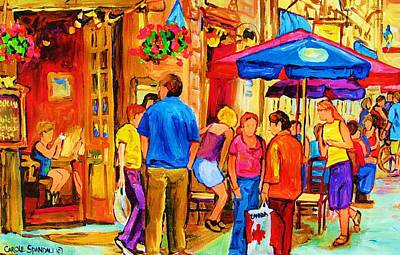 Montreal Restaurants Painting - Girl In The Cafe by Carole Spandau