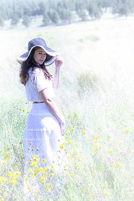Girl In The Dreamy Meadow Art Print by Amy Sorvillo