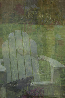 Digital Art - Girl In The Garden  by Mary Hahn Ward